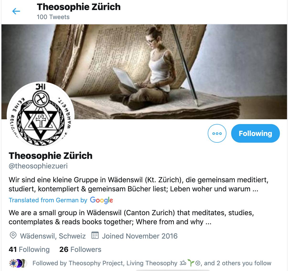 twitter teosofia zurigo